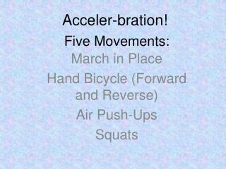 Five Movements: