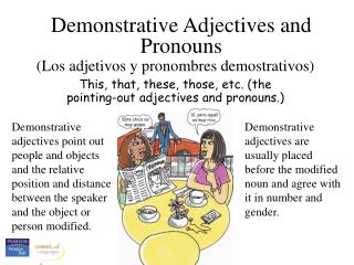 Th i s, that, these, those, etc. (the pointing-out adjectives  and pronouns .)