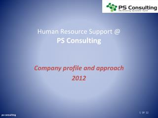 Human Resource Support @ PS Consulting