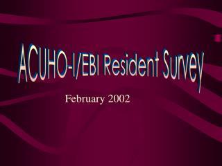 ACUHO-I/EBI Resident Survey