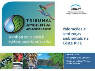 Valorações e sentenças ambientais na Costa Rica