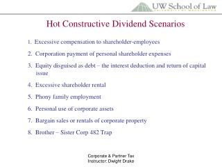 Hot Constructive Dividend Scenarios