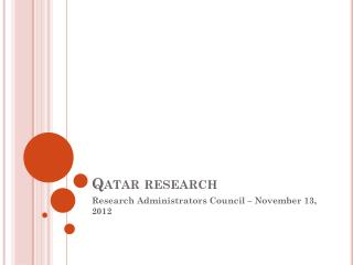 Qatar research