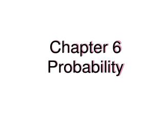 Chapter 6 Probability