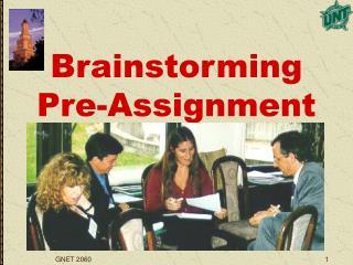 Brainstorming Pre-Assignment