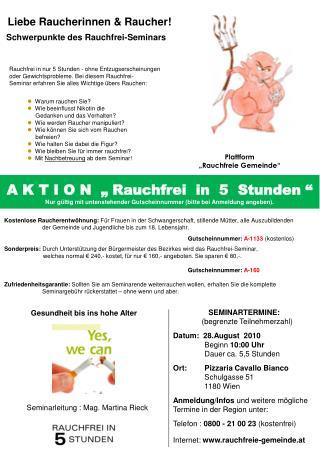"""Plattform """"Rauchfreie Gemeinde"""""""