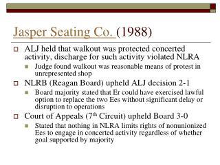 Jasper Seating Co.  (1988)