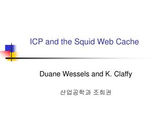 ICP and the Squid Web Cache