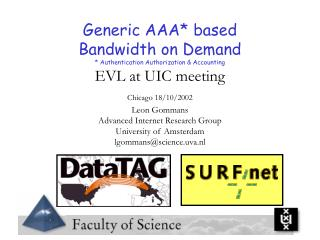Generic AAA* based Bandwidth on Demand * Authentication Authorization & Accounting