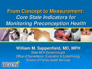 From Concept to Measurement:  Core State Indicators for Monitoring Preconception Health