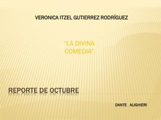 REPORTE DE OCTUBRE