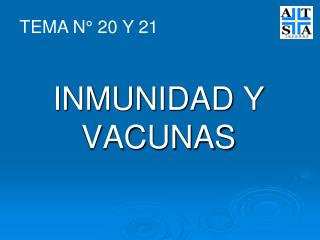 INMUNIDAD Y VACUNAS