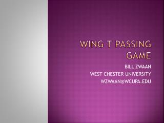 WING T PASSING GAME