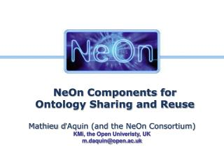 NeOn Components for Ontology Sharing and Reuse
