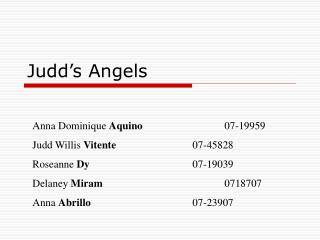 Judd's Angels