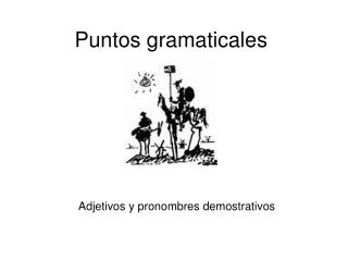Puntos gramaticales