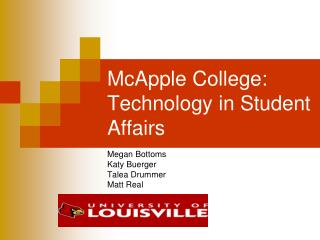 McApple College:  Technology in Student Affairs