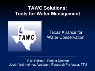 TAWC Solutions: Tools for Water Management