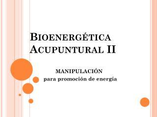 Bioenergética  Acupuntural  II