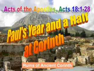 Acts of the Apostles, Acts 18:1-28
