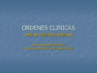 ORDENES CLINICAS