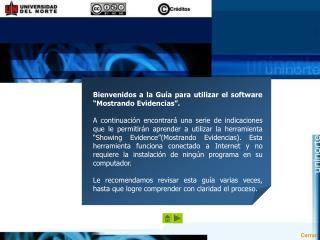 Guía para utilizar el software Mostrando Evidencias  (Showing Evidence)