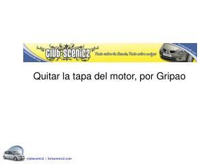 Quitar la tapa del motor, por Gripao