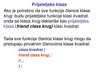 Prijateljske klase