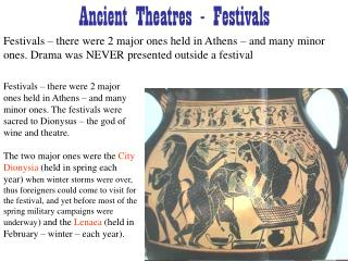 Ancient Theatres - Festivals