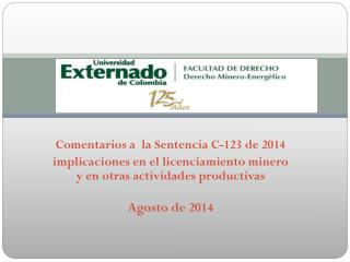 Comentarios a� la Sentencia C-123 de 2014