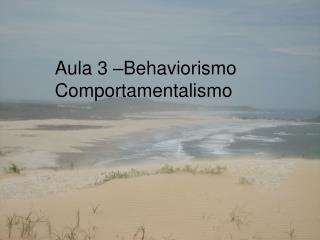 Aula 3 –Behaviorismo   Comportamentalismo