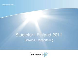 Studietur i Finland 2011