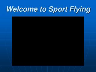 Welcome to Sport Flying