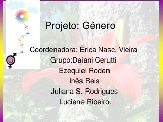 Projeto: Gênero
