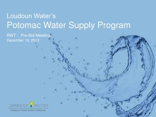 Loudoun Water's  Potomac Water Supply Program