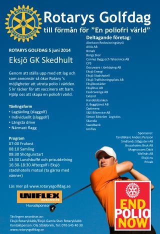 """Rotarys Golfdag till förmån för """"En poliofri värld"""""""