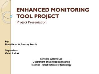 Enhanced Monitoring Tool Project