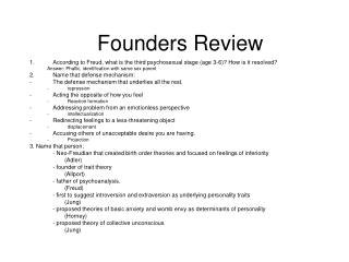 Founders Review