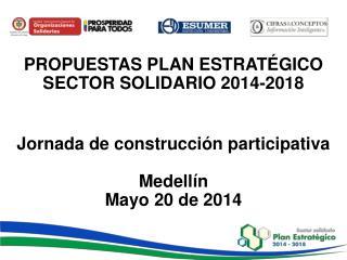 PROPUESTAS PLAN ESTRATÉGICO   SECTOR SOLIDARIO 2014-2018