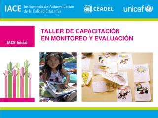 TALLER DE CAPACITACIÓN EN  MONITOREO Y EVALUACIÓN