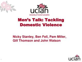 Men's Talk: Tackling Domestic Violence