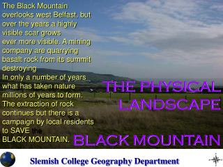 THE PHYSICAL LANDSCAPE BLACK MOUNTAIN