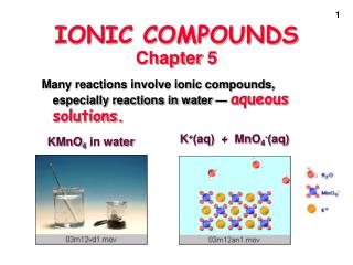 IONIC COMPOUNDS Chapter 5