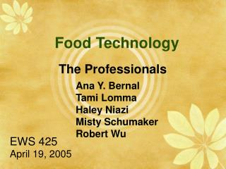 Food Technology