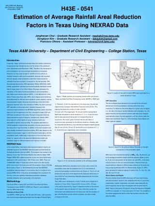 H43E - 0541 Estimation of Average Rainfall Areal Reduction Factors in Texas Using NEXRAD Data
