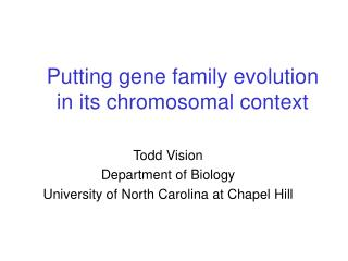 Putting gene family evolution in its chromosomal context