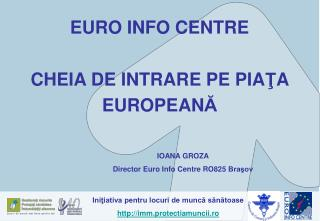 EURO INFO CENTRE CHEIA DE INTRARE PE PIA Ţ A  EUROPEAN Ă