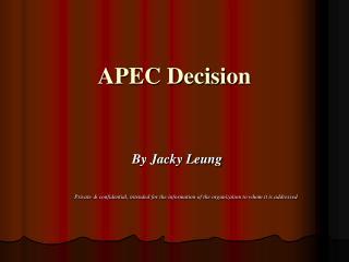 APEC Decision