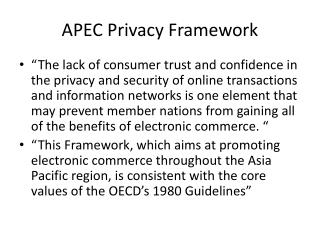 APEC Privacy Framework