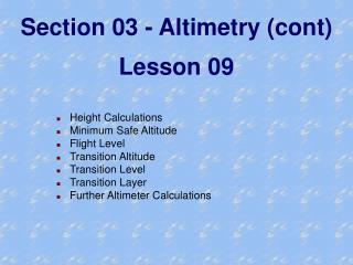 Section 03 - Altimetry (cont) Lesson 09